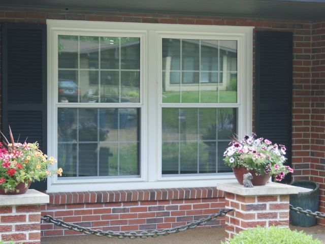 An image showing beautiful residential windows, recently installed in the St. Louis Metro area by XteriorPRO.