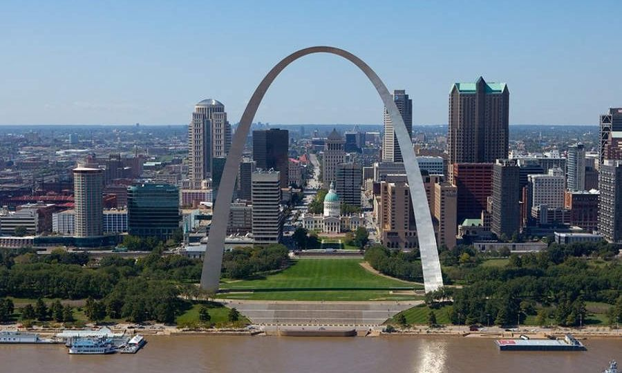 aerial view of st louis